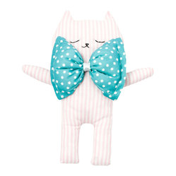 Kim the Cat Cuddle Toy, Pink Stripes