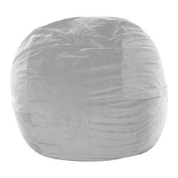 OneUp Innovations, Inc - Jaxx Mini (3 Ft) Foam Beanbag, Velvish Grey - A modern version of the beanbag chair, Jaxx Sacs represent a more savvy, stylish and comfortable seating alternative. Imagine a pool of luxurious foam 3ft. high and 3 to 6ft. wide covered in soft microfiber. Become one with Jaxx as it engulfs you in its valleys then embrace and support your entire being. Then recline for a rest deeper than time itself. Create a relaxed, informal setting or liven up your home theatre, your gaming room or playroom. Great furniture for apartment dwellers or young modern hipsters who entertain guests frequently. Made with 100% recycled/shredded furniture grade urethane foam. Covers zip-off for machine washing. Shipped compressed under vacuum to save on freight.