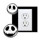 StickONmania - Outlet Skeleton Character Sticker - a vinyl decal sticker to decorate a wall outlet.  Decorate your home with original vinyl decals made to order in our shop located in the USA. We only use the best equipment and materials to guarantee the everlasting quality of each vinyl sticker. Our original wall art design stickers are easy to apply on most flat surfaces, including slightly textured walls, windows, mirrors, or any smooth surface. Some wall decals may come in multiple pieces due to the size of the design, different sizes of most of our vinyl stickers are available, please message us for a quote. Interior wall decor stickers come with a MATTE finish that is easier to remove from painted surfaces but Exterior stickers for cars,  bathrooms and refrigerators come with a stickier GLOSSY finish that can also be used for exterior purposes. We DO NOT recommend using glossy finish stickers on walls. All of our Vinyl wall decals are removable but not re-positionable, simply peel and stick, no glue or chemicals needed. Our decals always come with instructions and if you order from Houzz we will always add a small thank you gift.