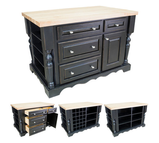 """Hardware Resources - Lyn Design Kitchen Island Accessories - Extra Wine Rack for use with ISL02-AWH. Island can hold up to 3 additional racks. Each rack holds 8 bottles. Overall dimensions: 9-1/8"""" tall x 18-1/2"""" wide x 14-1/2"""" deep. Bottle storage dimensions: 4-1/4"""" x 4-1/4"""" x 14-1/2"""". -"""