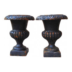 Medici cast Iron Urns - Antique/Vintage