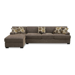 Poundex - Poundex Benford Faux Linen Chaise-Sofa Sectional in Slate - Poundex - Sectionals - Y744850 - Poundex Montreal collection faux linen 2 piece chaise - sofa sectional in slate color. Designer carefully selected leather and fabric for wear ability, seam strength, beauty and comfort. Newest design that is much better then the previous model. Built for anyone looking for clean lines and bold presence with style and comfort.