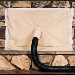 """SEAL GLOVE MANUFACTURING, INC. - Fireplace Cover Off White Cotton Canvas, 52"""" x 48"""" - Fireplace cover off white cotton canvas, 52"""" x 48"""""""
