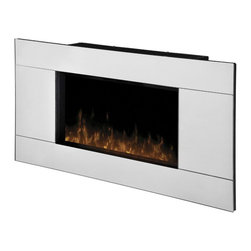 Dimplex - Dimplex Reflections Wall-Mount Fireplace - Dimplex - Electric Fireplaces - DWF13293A - From the unique mirror front to the stainless steel accent the Reflections wall-mount provides contemporary appeal. The realistic flame effect completes the overall simplicity of this stunning design.