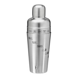 Kraftware - Recipe Cocktail Shaker - Made from brushed stainless steel. Capacity: 32 oz.. 6 in. W x 6 in. D x 12 in. H (1 lbs.)