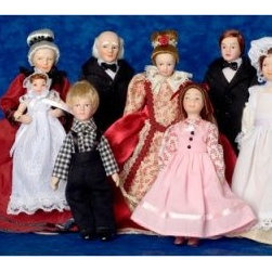 Town Square Miniatures Victorian Extended Family - This item is intended for collector dollhouses and is not recommended for children under 13 years of age.