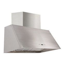 Cavaliere-Euro 42W in. Wall Mounted Range Hood with Baffle Filter - Commercial-grade power in your kitchen, the Cavaliere-Euro 42W in. Wall Mounted Range Hood with Baffle Filter offers stylish efficiency. Your foodie friends will marvel over the 1200 CFM airflow, powerful yet quiet dual chamber motor, and premium stainless steel baffle filters. Everyone else will admire the 19-gauge brushed stainless look and three dimmable halogen lights. Convenience comes in its touch sensitive keypad with easy to read blue light, 30-hour cleaning reminder, and delayed power auto shut off , which means you can set it and get on with the rest of your night.Additional Information: 6 speeds with timer functionTouch sensitive LCD keypad with blue lightsDishwasher-safe, premium stainless steel baffle filtersAirflow: 1200 CFM3 dimmable, 35-watt halogen lights30-hour cleaning reminder1-15-minute programmable delayed power auto shut-offAbout CavaliereCavaliere offers a complete stainless steel range hood collection. They blend superior components with the latest technologies to create range hoods that cater to your needs. Cavaliere has a special understanding of the kitchen environment, ergonomics, aesthetics, and integration within your home or workplace. They specialize in wall-mounted, island, or under cabinet range hoods that make a statement in your kitchen.