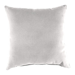 Jordan Manufacturing - White Patio Pillow - Update your patio décor with this stylish pillow, featuring fade-resistant construction ensuring it stays vibrant for years to come.   18'' x 18'' Canvas / blown fiber fill Spot clean Made in the USA