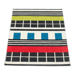 Pappelina - Pappelina James Plastic Runner, Color - This  rug from Pappelina, Sweden, uses PVC-plastic and polyester-warp to give it ultimate durability and clean-ability. Great for decks, bathrooms, kitchens and kid's rooms.