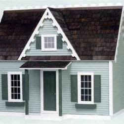 Real Good Toys Finished Victorian Cottage Jr - 1 Inch Scale - Diminutive yet grand the Real Good Toys Finished Victorian Cottage Jr. - 1-Inch Scale recalls an elegant time of the past. This realistic 2-story historical design with decorative trim includes three spacious rooms and two smaller ones. Among its features are 0.25-inch and 0.375-inch floors finished with stained hardwood painted interior trim doors and stairway complete with banister and landing rails and silk-screened non-working windows with shutters. Crafted from durable 0.375-inch MDF the sturdy exterior walls boast milled clapboards. The interiors are wallpapered for a traditional look. This cottage also includes working doors stained wooden roof shingles and a rooftop crest that provides an attractive finishing touch. Please note that paint glue curtains landscaping and furnishings are not included. This exquisite kit is suitable for use by collectors. As it includes small pieces it's not recommended for children under the age of 3. About Real Good ToysBased in Barre Vt. Real Good Toys has been handcrafting miniature homes since 1973. By designing and engineering the world's best and easiest to assemble miniature homes Real Good Toys makes dreams come true. Their commitment to exceptional detail the highest level of quality and ease of assembly make them one of the most recommended names in dollhouses. Real Good dollhouses make priceless gifts to pass on to your children and your children's children for years to come.