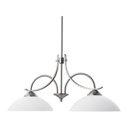 Kichler - Kichler Olympia Transitional Kitchen Island Light X-PA8792 - This Kichler Lighting kitchen island light blends classic and contemporary styling for a modern, updated look. The Antique Pewter finish provides a surprisingly modern backdrop for the satin etched White glass shades.