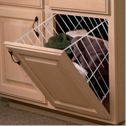 Cabinet Accessories - Tilt out hamper door mount.