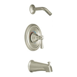 Moen - Moen Kingsley Posi-Temp Tub and Shower Trim, Brushed Nickel (T2113NHBN) - Moen T2113NHBN Kingsley Posi-Temp Tub and Shower Trim, Brushed Nickel