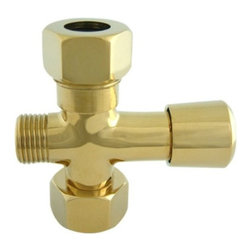 """Kingston Brass - Kingston Brass Polished Brass Vintage-Style Shower Diverter ABT1060-2 - This diverter is designed to be used in installations where a shower pole will be installed, Fits standard 3/4"""" IPS male connections. Manufacturer: Kingston Brass. Model:ABT1060-2. UPC: 663370120718. Product Name: Shower Diverter. Collection / Series: Vintage. Finish: Polished Brass. Theme: Classic. Material: Brass. Type: Accessories. Features: Constructed in high quality brass. Beautiful premier finish. Fine artistic craftsmanship. Standard US plumbing connections. Designed for a lifetime of exceptional performance."""