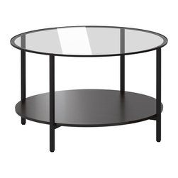 VITTSJÖ Coffee table - IKEA - The table top in tempered glass is stain resistant and easy to clean.