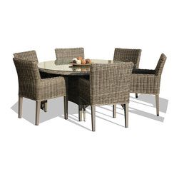 TKC - 7 Piece Outdoor Wicker Patio Furniture Dining Set - Clearance prices available while supplies last.