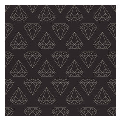 """WallsNeedLove - Removable Wallpaper - Black Diamonds Are Forever - I've never seen a diamond in the flesh/ I cut my teeth on wedding rings in the movies"""" -Lorde """"Royals """""""