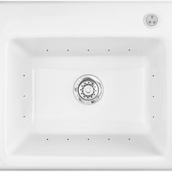 Delicair II - Multi-purpose laundry basin  *Air jet cleaning system  *Air switch on/off control  *Air blower  *Suitable for undermount applications  *Lucite cast acrylic surface  *Limited 5-year warranty