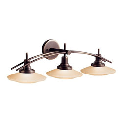 Kichler - Kichler Structures Bathroom Lighting Fixture in Olde Bronze - Shown in picture: Kichler Bath 3-Light Halogen in Olde Bronze
