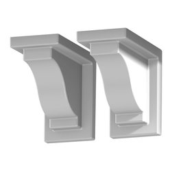 Mayne Inc. - Yorkshire Decorative Brackets (2pack), White - Complete the look of your window box with a pair of decorative supports.  The curved brackets are the perfect finishing touch to your installation. Made from high quality vinyl providing the look of finished wood without the maintenance.  Includes 2 decorative supports and 4 screws. Decorative brackets attach easily to the existing wall mount brackets provided with the Yorkshire window box.  Decorative only.