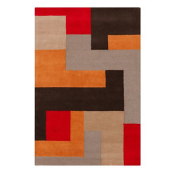 Surya - Contemporary Centennial 8'x11' Rectangle Multi Color Area Rug - The Centennial area rug Collection offers an affordable assortment of Contemporary stylings. Centennial features a blend of natural Multi Color color. Hand Tufted of 100% Wool the Centennial Collection is an intriguing compliment to any decor.