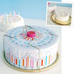 Vintage Cake Carrier - Mom known for her awesome cakes? My mom's specialty is a cake decorated with M&Ms. I love this vintage-style cake carrier. It protects the goods in retro style.