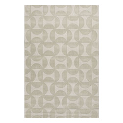Jaipur Rugs - Jaipur Rugs Handmade Looped & Cut Wool Ivory/White Solid Area Rug, 2 x 3ft - This collections offers simple modern geometrics in all the fashion colors. Hand loomed in 100% wool each rug make a bold solid color statement to compliment contemporary interiors. The pattern and texture is created through a high/low loop and pile construction.