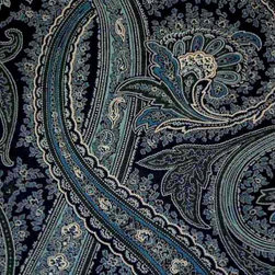 Ralph Lauren Fayette Paisley Color Blue - LCF22081F from Book: Classic Cottage