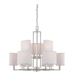 Nuvo Lighting - Nuvo Lighting 60/4759 Chandelier - Brushed Nickel - Gemini is a relaxed, contemporary collection which utilizes basic geometric design elements to achieve form and balance. With the company's keen understanding of the lighting industry, and after three years of development, Satco launched Nuvo Lighting on June 23, 2005.