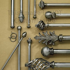 Traditional Curtain Rods by smithandnoble.com