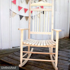 Dixie Seating - Standard Slat Porch Rocking Chair Unfinished - Designed for both indoor or outdoor use, this classic rocking chair will be an inviting choice for any front or back porch. Ideal for enjoying a glass of lemonade on a warm summer day. Classic indoor and outdoor standard adult slat porch rocking chair. Made of solid ash hardwood. Made in the USA. Ready to assemble format. Minimum assembly required. Underside is unsanded. 25 in. W x 19 in. D x 42 in H