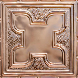 """Decorative Ceiling Tiles - Moroccan Magic - Copper Ceiling Tile - 24""""x24"""" - #2425 - Find copper, tin, aluminum and more styles of real metal ceiling tiles at affordable prices . We carry a huge selection and are always adding new style to our inventory."""