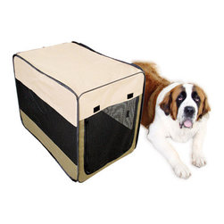 New Buffalo Corp. - Sportsman Series Portable Pet Kennel for Large Size Dogs - The Sportsman Series Portable Pet Kennel offers a lightweight and convenient way to keep your pets safe and secure while traveling, camping, or at home. The pop up design sets up in the blink of an eye, then easily collapses and folds into a carrying case for convenient storage.