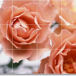 Picture-Tiles, LLC - Flower Picture Mural Tile F304 - * MURAL SIZE: 24x32 inch tile mural using (12) 8x8 ceramic tiles-satin finish.