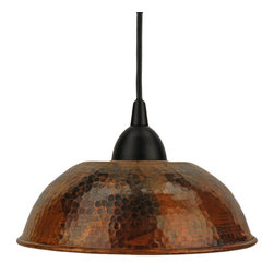 Hand-Hammered Copper Dome Pendant Light - If you are looking for authenticity, then look no further than this hand-crafted copper dome pendant. The hammered shade oozes old-world charm.