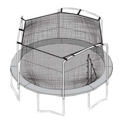 Sports Oh - 15 ft. Trampoline Net - Fits Universal Multicolor - N9-1500000000 - Shop for Trampoline Accessories from Hayneedle.com! Let there be more bouncing less crying with the addition of the 15 ft. Trampoline Net Fits Universal in your backyard. As a parent safety is always a concern so with the addition of this polyethylene net - equipped with attachment hooks and a heavy-duty double zipper you can set your mind at ease while your kids have fun and enjoy the outdoors. Maintenance is easy this mesh net is fade mold and water-resistant so you can keep it up no matter the weather. It s designed for use on 15-foot configurations with 2- 3- and 4-arch designs with 4-15 count straight/straight-curved poles.