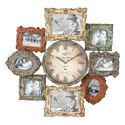 Benzara - Metal Clock Photo Frame with Dual Purpose - Wall decor with great utility. Support your existing wall decor with 68412 Metal CLOCK PHOTO FRAME. It is an excellent anytime low priced wall decor upgrade option with great utility for everyone. Just have a look over this Metal CLOCK PHOTO FRAME, you will fall in instant love with its beauty.