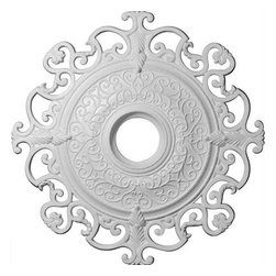 Ekena 38-3/8 in. Orleans Ceiling Medallion-CM38OL at The Home Depot -