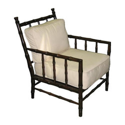 NOIR - NOIR Furniture - Bamboo Relax Chair - SOF102, Distressed Brown - Features:
