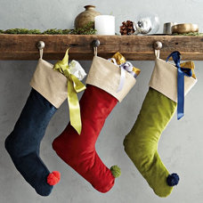 Contemporary Christmas Stockings And Holders by West Elm