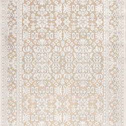 Jaipur Rugs - Transitional Oriental Pattern Ivory /White Viscose/Chenille Rug - FB07, 5x7.6 - Every design tells a story with the Fables Collection. This broad range, crafted in machine-tufted polyester & ultra-soft chenille, brings any space to life with its fashion-forward color palettes. With options suited to many styles and aesthetics, Fables brings together a diverse collection of patterns ranging from sophisticated transitional to boldly scaled contemporary.