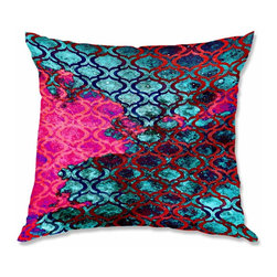 DiaNoche Designs - Pillow Woven Poplin by Iris Lehnhardt Sky Pattern II - Toss this decorative pillow on any bed, sofa or chair, and add personality to your chic and stylish decor. Lay your head against your new art and relax! Made of woven Poly-Poplin.  Includes a cushy supportive pillow insert, zipped inside. Dye Sublimation printing adheres the ink to the material for long life and durability. Double Sided Print, Machine Washable, Product may vary slightly from image.