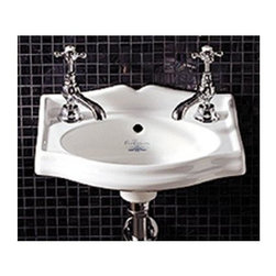 Whitehaus Collection - Small Rectangular Wall-Mount Washbasin in Whi - Manufacturer SKU: AR035WH. Basin only. Two single hole faucet drillings. 14.75 in. L x 11 in. W x 5.5 in. H (13 lbs.). Product Specifications