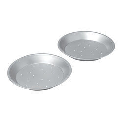 Chicago Metallic Commercial II  Perforated 2-Piece Pie Pan Set