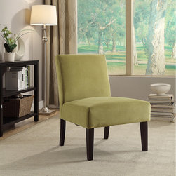 Office Star Products - Laguna Chair in Basil Velvet with Espresso Legs - The Laguna Series Chair adds sophistication to any room.  The chairs are covered in high performance easy care fabrics with foam cushions. Solid wood legs for durability complete the design.