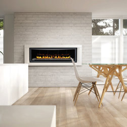 Napoleon 5th Avenue LHD50 68'' x 61'' Linear Series DV Gas Fireplace System - From its sleek linear design to the amazing choice of contemporary fireplace medias, Napoleon's LHD50 Gas Fireplace provides you with a luxurious fireplace experience. Enjoy the radiant glow from the standard Topaz CRYSTALINE™ ember bed or choose the option of river rocks or coloured glass. Available as a one-sided or See Thru model.