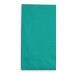 Creative Converting - Teal 2-Ply Guest Towels (Set of 100) - Spruce up your bathroom when entertaining with these great teal guest towels. Offers disposable convenience.