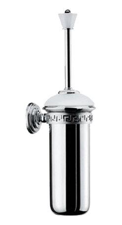 Versace - Versace Classic Platinum Wall Mount Toilet Brush And Holder - Versace Wall Mounted Toilet Brush and Holder