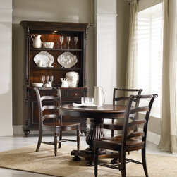 Hooker Furniture - Hooker Furniture Eastridge 44-inch Round Pedestal Dining Table 5177-75203 - Includes Dining Table only