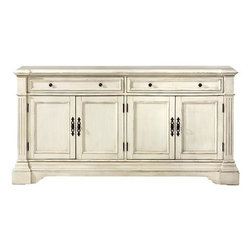 Home Decorators Collection - Bufford Cabinet - Our Bufford Cabinet lets you customize the antique charm it brings to your living or dining room. Pick the finish and size that work best with your space. With its vintage styling and classic metal hardware, this piece will be a mainstay in your home for years to come. Your choice of size and finish. 2-door model has 1 drawer. 4-door model has 2 drawers.